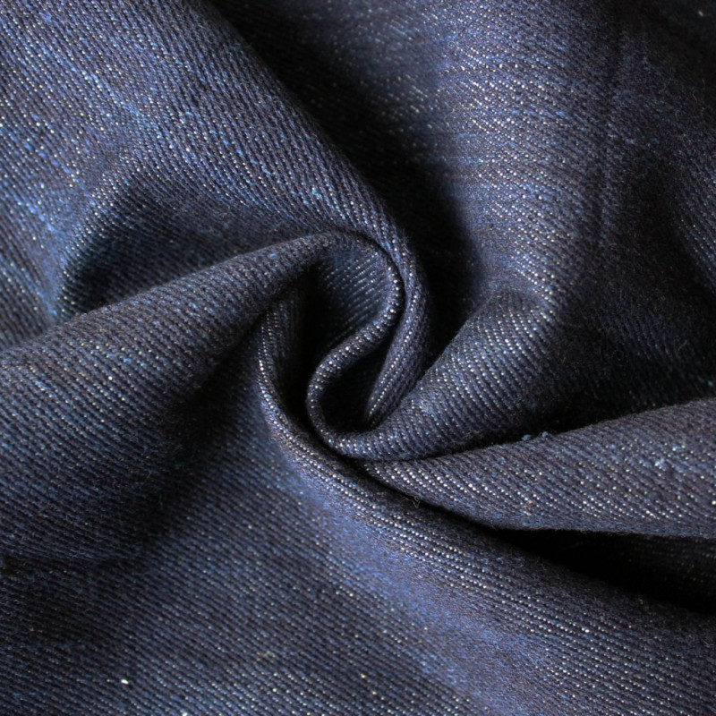 Hand woven Dark Blue Organic Denim - Offset Warehouse