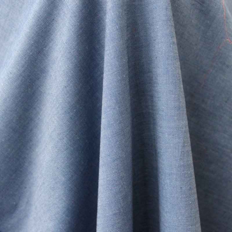 Light Organic Denim Chambray Fabric