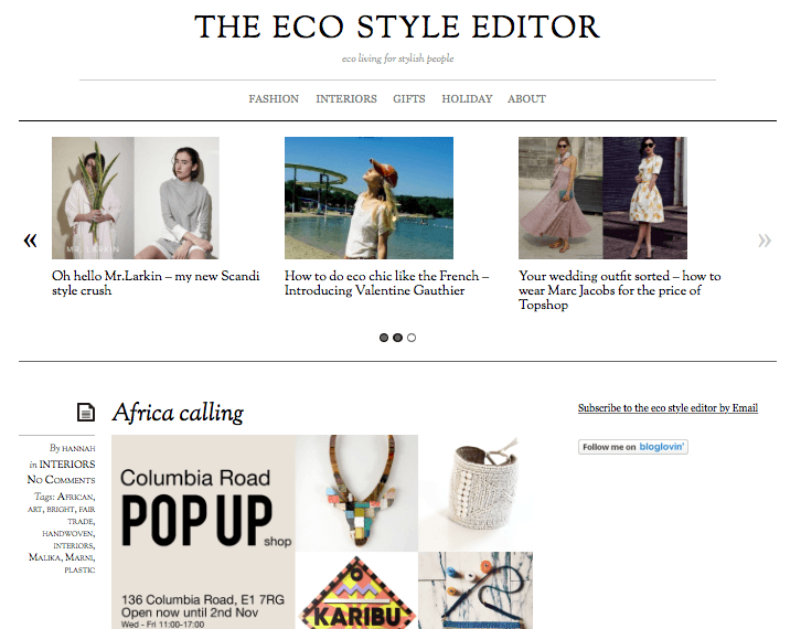 The Eco Style Editor