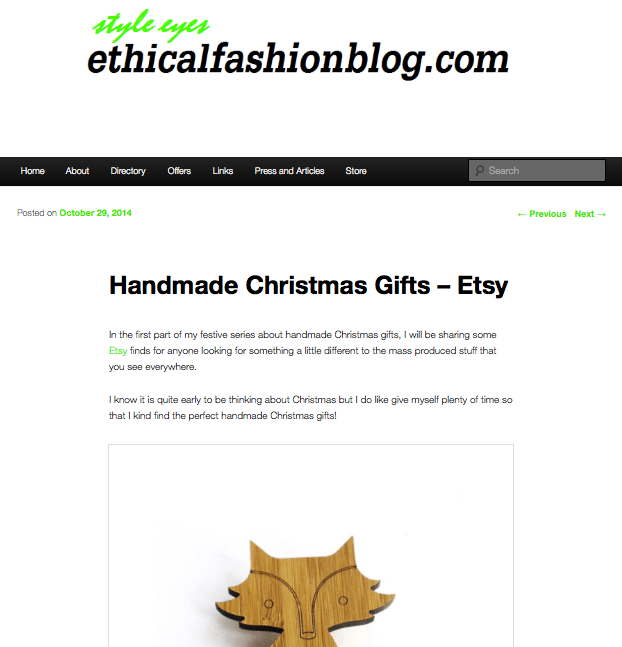 Ethical Fashion Blog