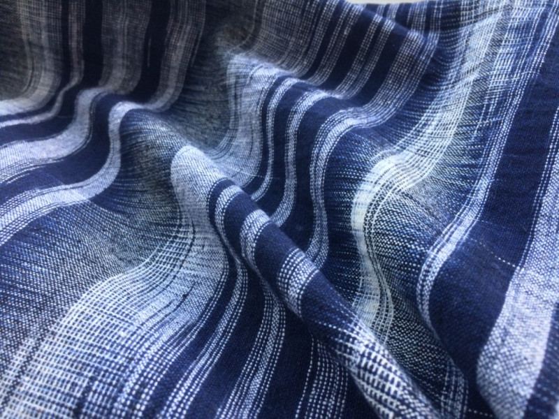 Our gorgeous hand woven Blue & White Ikat Fabric